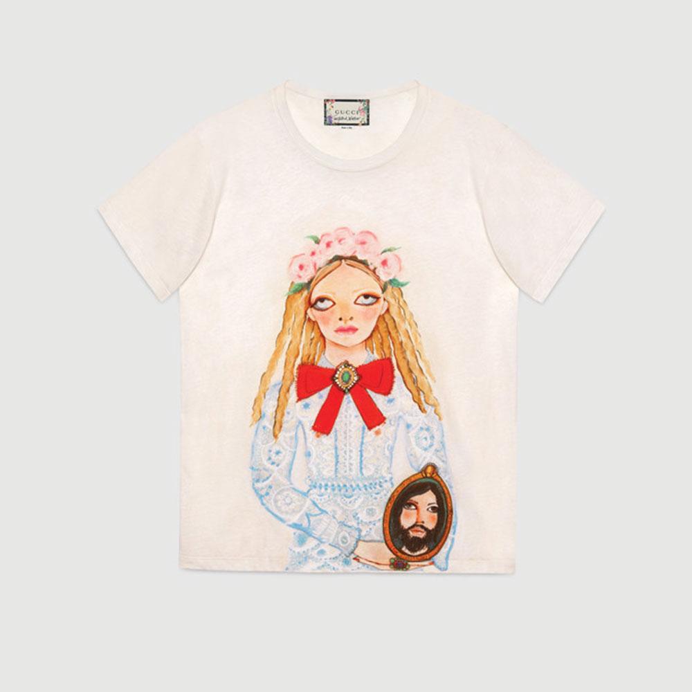 Gucci Unskilled Worker Tişört Beyaz - 55 #Gucci #GucciUnskilledWorker #Tişört