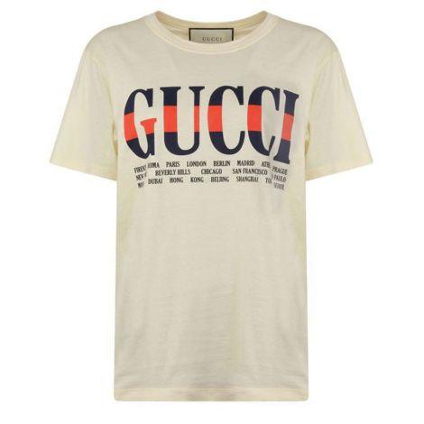 Gucci Tişört Cities Beyaz #Gucci #Tişört #GucciTişört #Erkek #GucciCities #Cities
