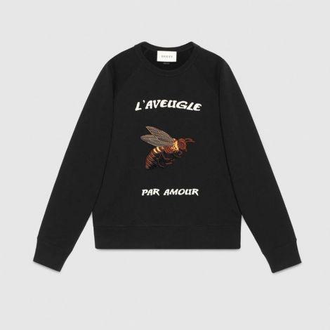 Gucci Sweatshirt Bee Siyah #Gucci #Sweatshirt #GucciSweatshirt #Erkek #GucciBee #Bee