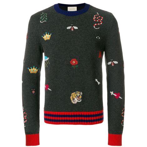 Gucci Sweatshirt Crewneck Gri #Gucci #Sweatshirt #GucciSweatshirt #Erkek #GucciCrewneck #Crewneck