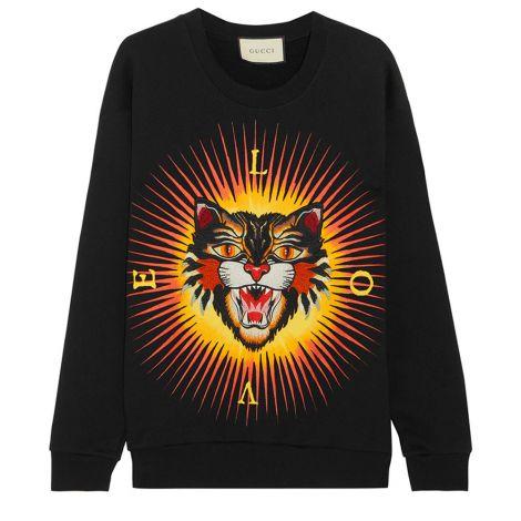 Gucci Sweatshirt Angry Cat Siyah #Gucci #Sweatshirt #GucciSweatshirt #Erkek #GucciAngry Cat #Angry Cat