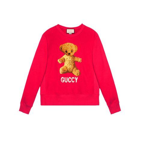 Gucci Sweatshirt Teddy Kırmızı #Gucci #Sweatshirt #GucciSweatshirt #Kadın #GucciTeddy #Teddy