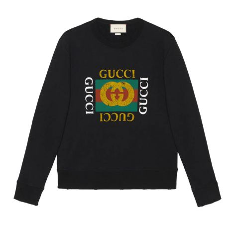 Gucci Sweatshirt Logo Siyah #Gucci #Sweatshirt #GucciSweatshirt #Erkek #GucciLogo #Logo