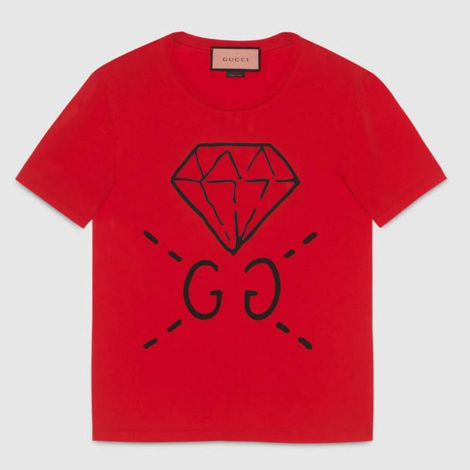 Gucci Tişört Ghost Kırmızı #Gucci #Tişört #GucciTişört #Erkek #GucciGhost #Ghost