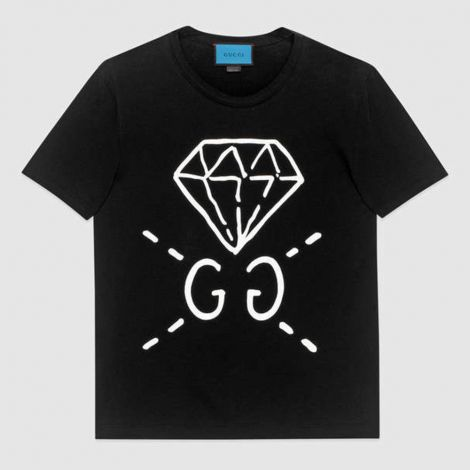 Gucci Tişört Ghost Siyah #Gucci #Tişört #GucciTişört #Erkek #GucciGhost #Ghost