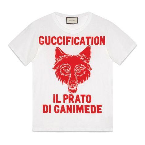 Gucci Tişört Guccification Beyaz #Gucci #Tişört #GucciTişört #Kadın #GucciGuccification #Guccification