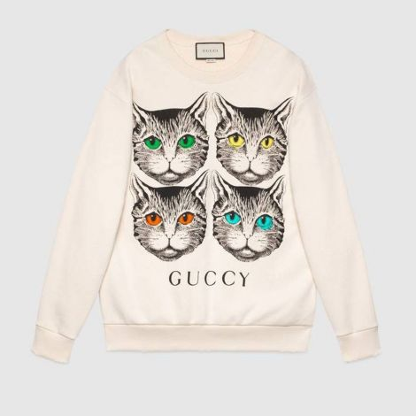 Gucci Sweatshirt Mystic Beyaz #Gucci #Sweatshirt #GucciSweatshirt #Kadın #GucciMystic #Mystic