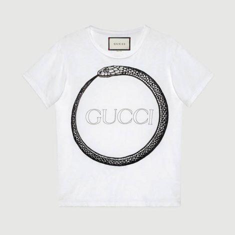 Gucci Tişört Ouroboros Beyaz #Gucci #Tişört #GucciTişört #Erkek #GucciOuroboros #Ouroboros