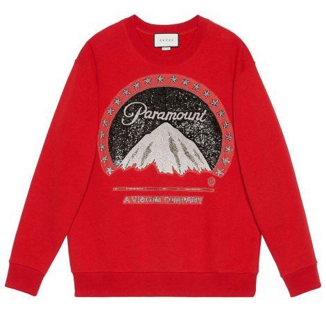 Gucci Sweatshirt Paramount Kırmızı #Gucci #Sweatshirt #GucciSweatshirt #Kadın #GucciParamount #Paramount
