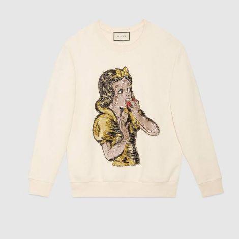 Gucci Sweatshirt Sequin Beyaz #Gucci #Sweatshirt #GucciSweatshirt #Kadın #GucciSequin #Sequin