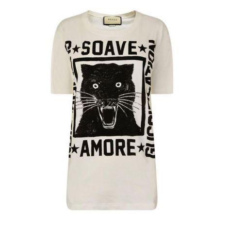 Gucci Tişört Panther Beyaz #Gucci #Tişört #GucciTişört #Kadın #GucciPanther #Panther