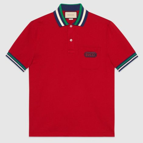 Gucci Tişört Polo Kırmızı #Gucci #Tişört #GucciTişört #Erkek #GucciPolo #Polo