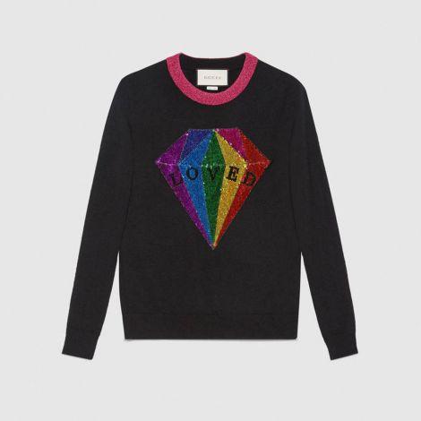 Gucci Sweatshirt Sequin Siyah #Gucci #Sweatshirt #GucciSweatshirt #Kadın #GucciSequin #Sequin