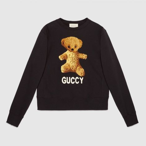 Gucci Sweatshirt Teddy Siyah #Gucci #Sweatshirt #GucciSweatshirt #Erkek #GucciTeddy #Teddy