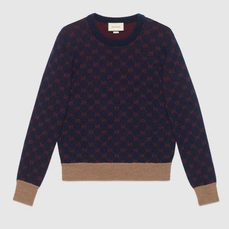 Gucci Sweatshirt Jacquard Lacivert #Gucci #Sweatshirt #GucciSweatshirt #Erkek #GucciJacquard #Jacquard