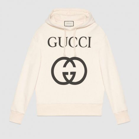 Gucci Sweatshirt Interlocking Beyaz #Gucci #Sweatshirt #GucciSweatshirt #Erkek #GucciInterlocking #Interlocking