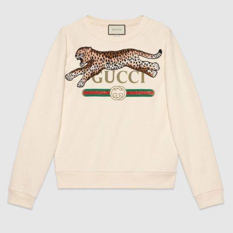 Gucci Sweatshirt Leopard Krem #Gucci #Sweatshirt #GucciSweatshirt #Erkek #GucciLeopard #Leopard