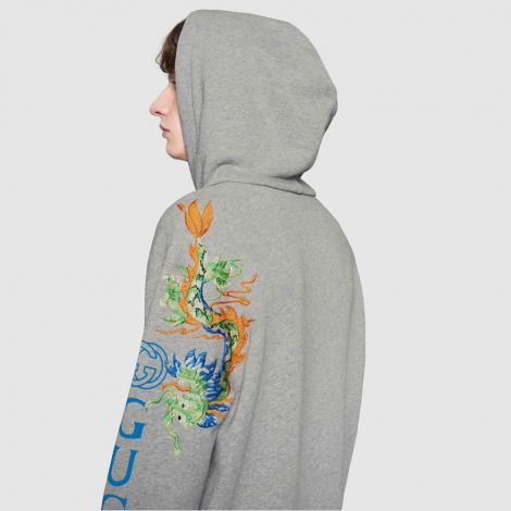 Gucci Sweatshirt Dragon Gri #Gucci #Sweatshirt #GucciSweatshirt #Erkek #GucciDragon #Dragon