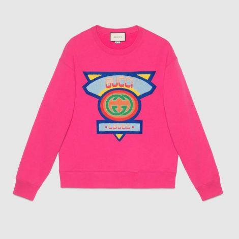 Gucci Sweatshirt 80s Pembe #Gucci #Sweatshirt #GucciSweatshirt #Erkek #Gucci80s #80s