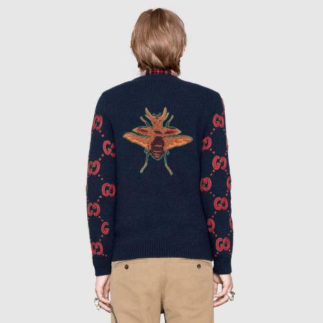 Gucci Sweatshirt GG Lacivert #Gucci #Sweatshirt #GucciSweatshirt #Erkek #GucciGG #GG