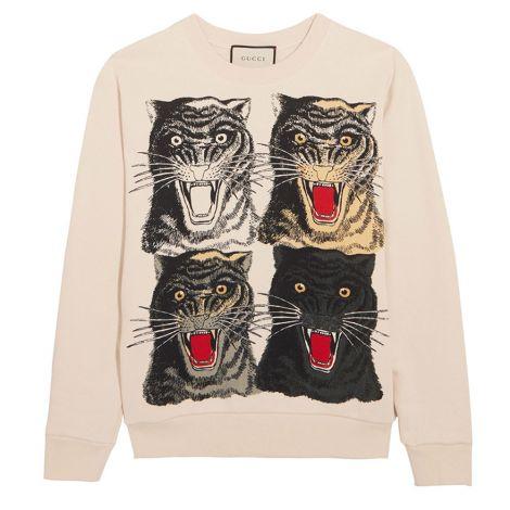 Gucci Sweatshirt Jersey Krem #Gucci #Sweatshirt #GucciSweatshirt #Kadın #GucciJersey #Jersey