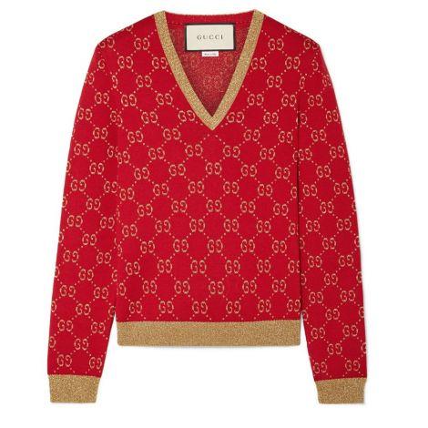 Gucci Sweatshirt Jacquard Kırmızı #Gucci #Sweatshirt #GucciSweatshirt #Kadın #GucciJacquard #Jacquard