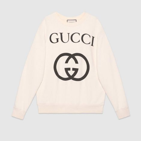 Gucci Sweatshirt Interlocking Beyaz #Gucci #Sweatshirt #GucciSweatshirt #Kadın #GucciInterlocking #Interlocking