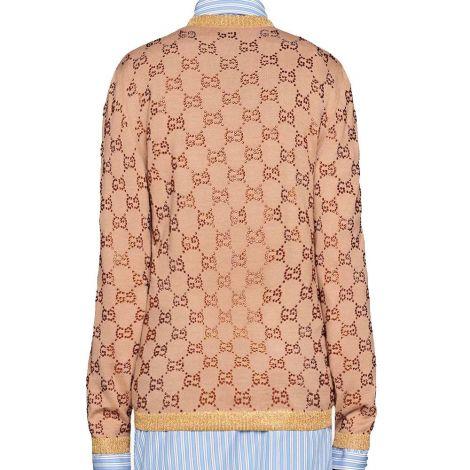 Gucci Sweatshirt Crystal GG Krem #Gucci #Sweatshirt #GucciSweatshirt #Kadın #GucciCrystal GG #Crystal GG
