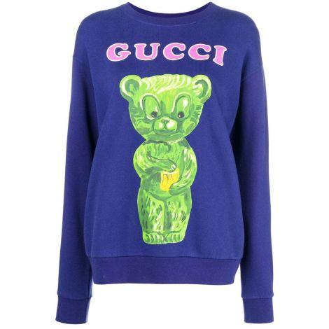 Gucci Sweatshirt Teddy Mavi #Gucci #Sweatshirt #GucciSweatshirt #Kadın #GucciTeddy #Teddy