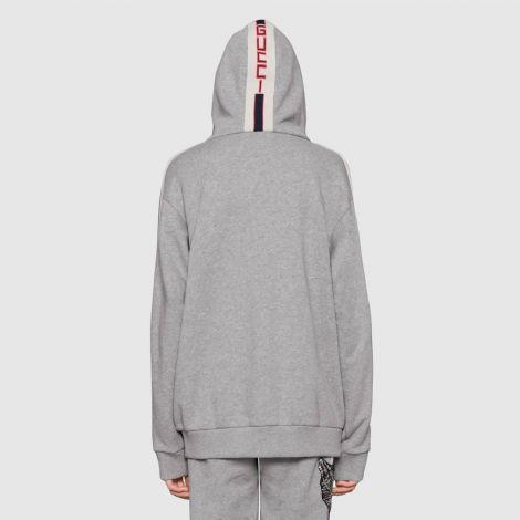 Gucci Sweatshirt Stripe Gri #Gucci #Sweatshirt #GucciSweatshirt #Kadın #GucciStripe #Stripe