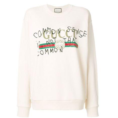 Gucci Sweatshirt Capitan Beyaz #Gucci #Sweatshirt #GucciSweatshirt #Kadın #GucciCapitan #Capitan