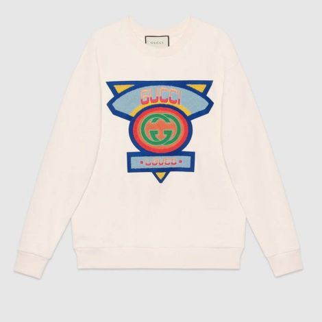 Gucci Sweatshirt 80s Beyaz #Gucci #Sweatshirt #GucciSweatshirt #Kadın #Gucci80s #80s