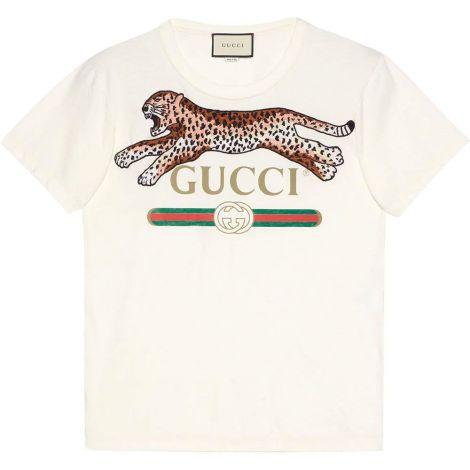 Gucci Tişört Leopard Beyaz #Gucci #Tişört #GucciTişört #Erkek #GucciLeopard #Leopard