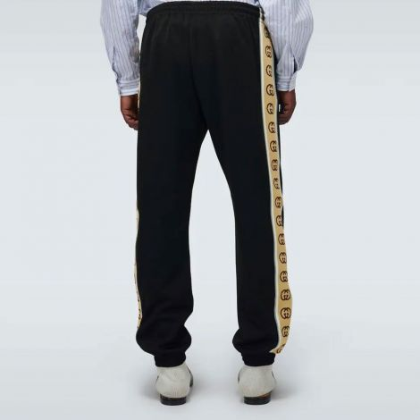 Gucci Eşofman Alt Trackpants Siyah - Gucci Technical Jersey Trackpants Esofman Alt Siyah