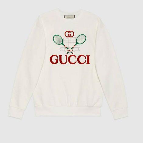 Gucci Sweatshirt Tennis Beyaz #Gucci #Sweatshirt #GucciSweatshirt #Kadın #GucciTennis #Tennis