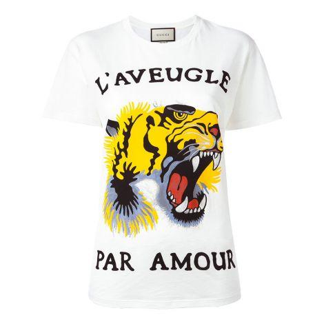 Gucci Tişört Tiger Beyaz #Gucci #Tişört #GucciTişört #Kadın #GucciTiger #Tiger