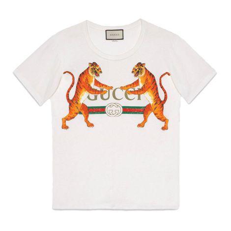 Gucci Tişört Tigers Beyaz #Gucci #Tişört #GucciTişört #Kadın #GucciTigers #Tigers