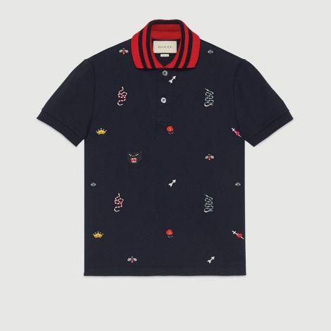 Gucci Tişört Polo Lacivert #Gucci #Tişört #GucciTişört #Erkek #GucciPolo #Polo