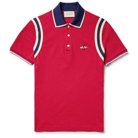 Gucci Tişört Pique Kırmızı #Gucci #Tişört #GucciTişört #Erkek #GucciPique #Pique
