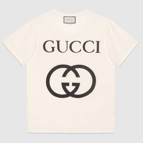 Gucci Tişört Interlocking Beyaz #Gucci #Tişört #GucciTişört #Erkek #GucciInterlocking #Interlocking