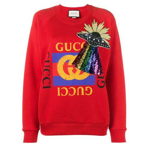 Gucci Sweatshirt Ufo Kırmızı #Gucci #Sweatshirt #GucciSweatshirt #Kadın #GucciUfo #Ufo