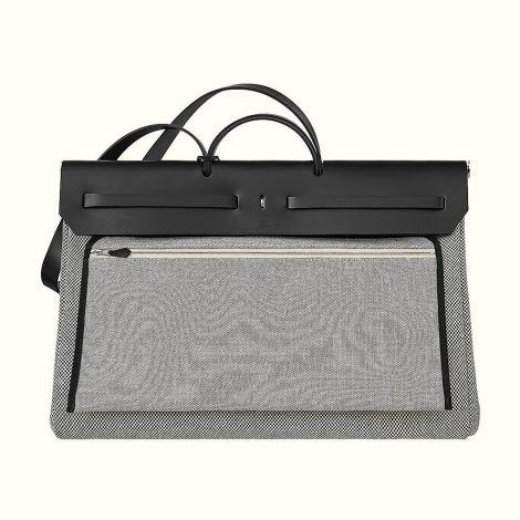 Hermes Çanta Herbag Gri - Hermes Canta Paris Herbag Zip Retourne Cabine 50 Bag Grey Gri