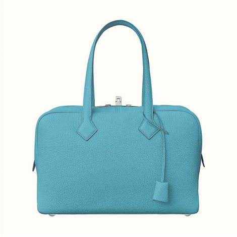 Hermes Çanta Victoria Mavi - Hermes Canta Paris Victoria Ii Fourre Tout 35 Bag Mavi