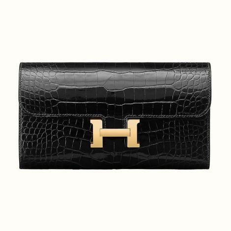 Hermes Cüzdan Constance Siyah - Hermes Cuzdan Constance Long Wallet Noir Siyah