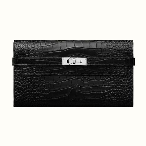 Hermes Cüzdan Kelly Siyah - Hermes Cuzdan Kelly Classic Wallet Noir Mat Siyah