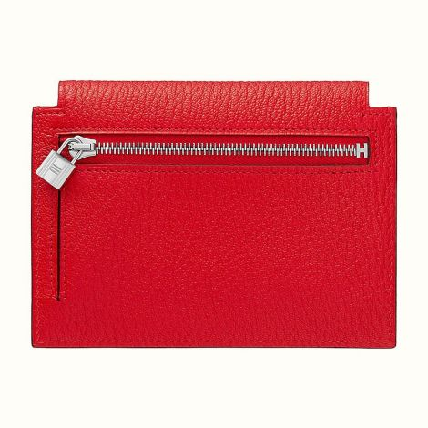 Hermes Cüzdan Kelly Kırmızı - Hermes Cuzdan Kelly Pocket Compact Wallet Rouge De Coeur Kirmizi