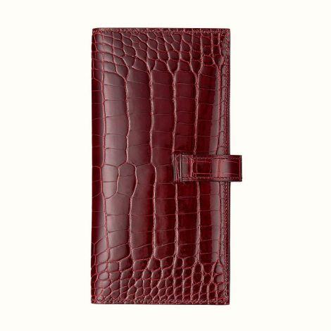 Hermes Cüzdan Bearn Bordo - Hermes Cuzdan Paris Bearn Wallet Bourgogne Bordo