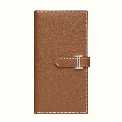 Hermes Cüzdan Bearn Bej - Hermes Cuzdan Paris Bearn Wallet Gold Bej
