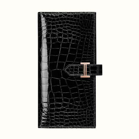 Hermes Cüzdan Bearn Siyah - Hermes Cuzdan Paris Bearn Wallet Noir Siyah