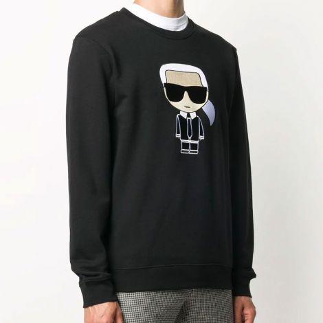Karl Lagerfeld Sweatshirt Ikonik Siyah - Sweatshirt Erkek 21 Karl Lagerfeld Ikonik Karl Siyah